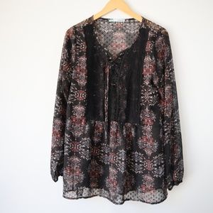 Maurices Floral Sheer Top
